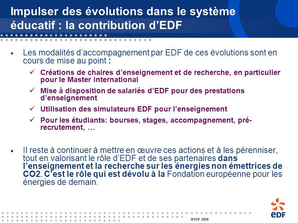 Impulser des évolutions dans le système éducatif : la contribution d'EDF