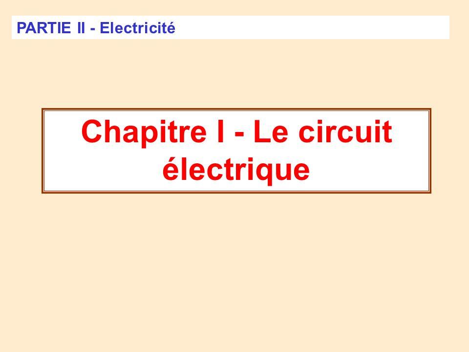 Chapitre I - Le circuit électrique
