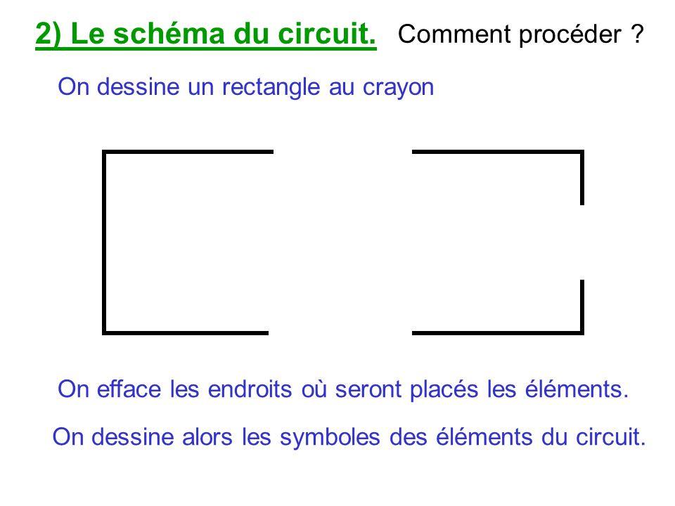 2) Le schéma du circuit. Comment procéder