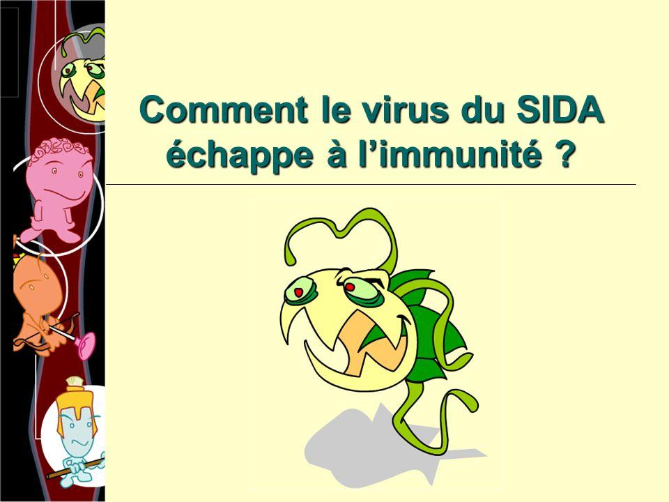Comment le virus du SIDA échappe à l'immunité