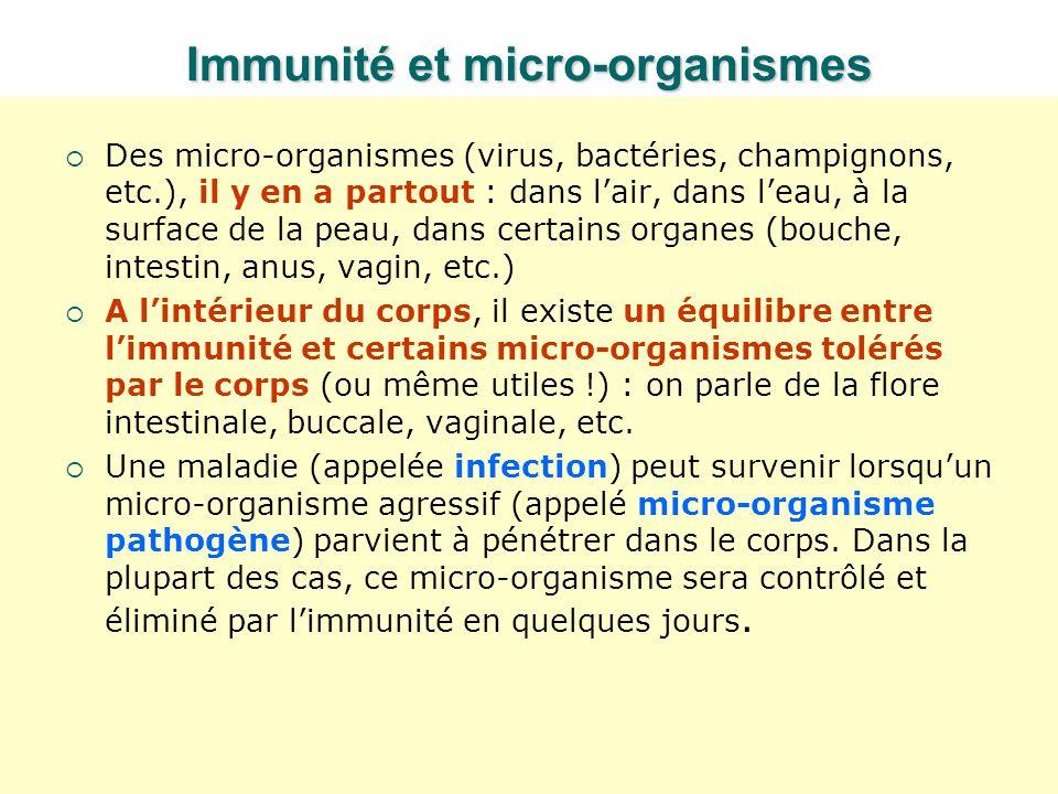 Immunité et micro-organismes