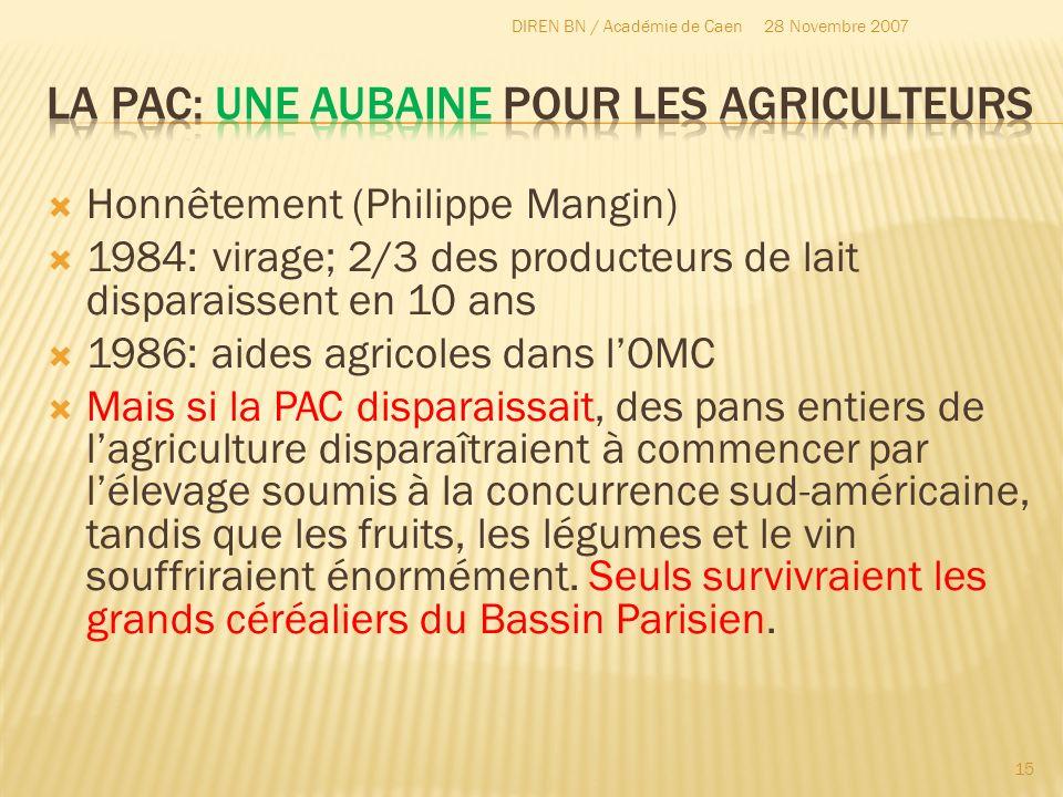 La Pac: une aubaine pour les agriculteurs