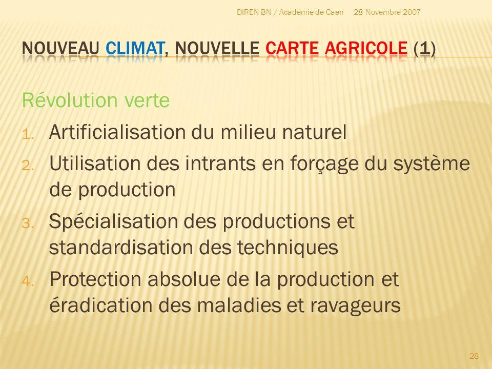 Nouveau Climat, nouvelle carte agricole (1)