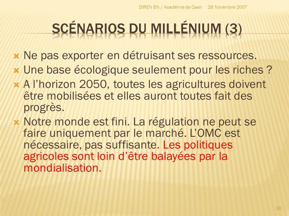 Scénarios du millénium (3)