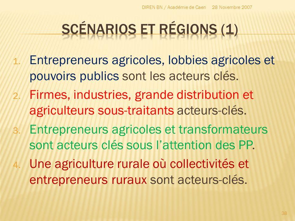 Scénarios et régions (1)
