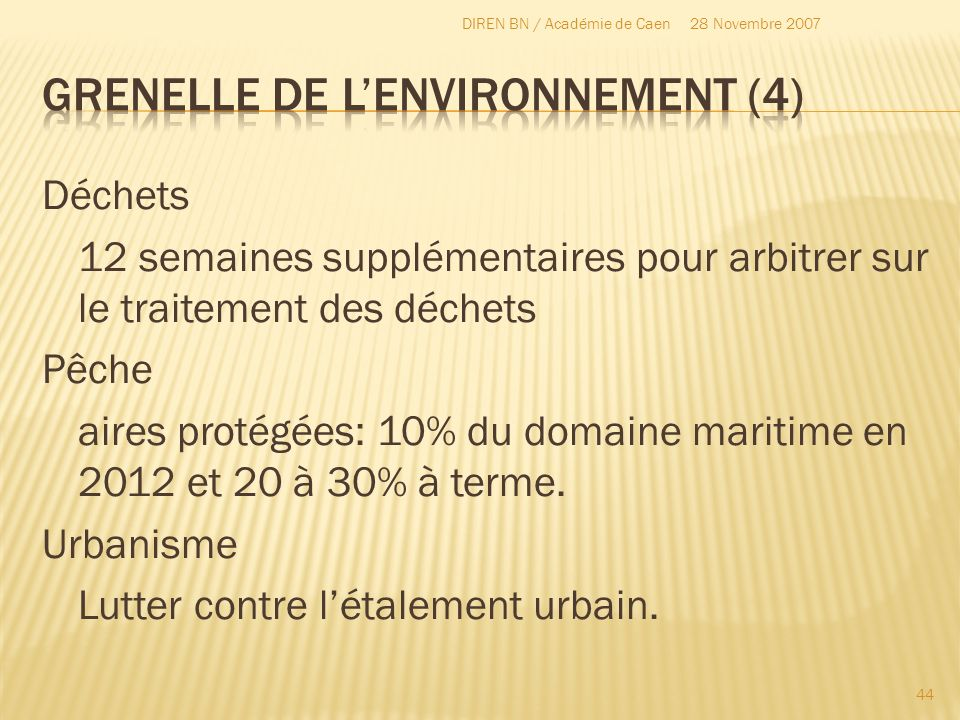 Grenelle de l'environnement (4)