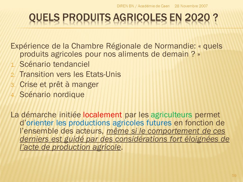Quels produits agricoles en 2020
