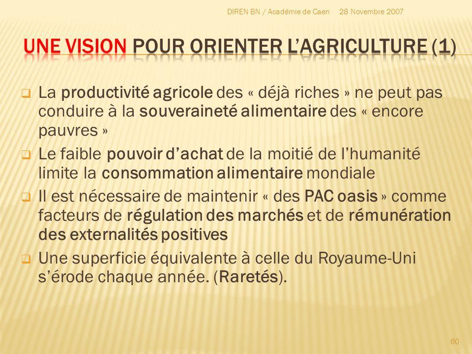 Une vision pour orienter l'agriculture (1)