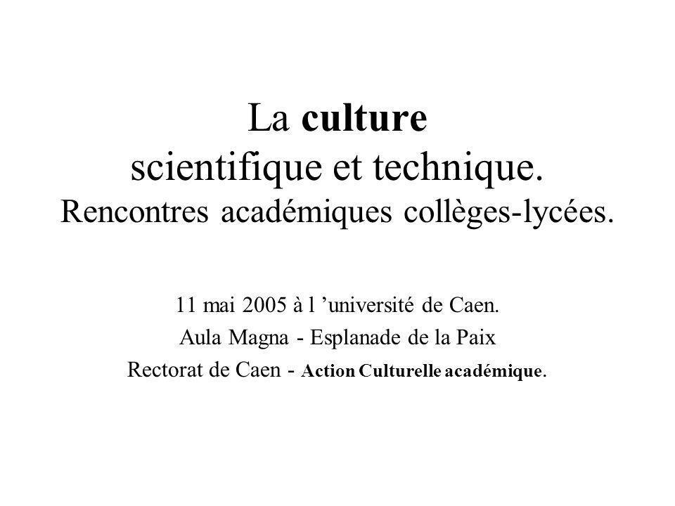 La culture scientifique et technique
