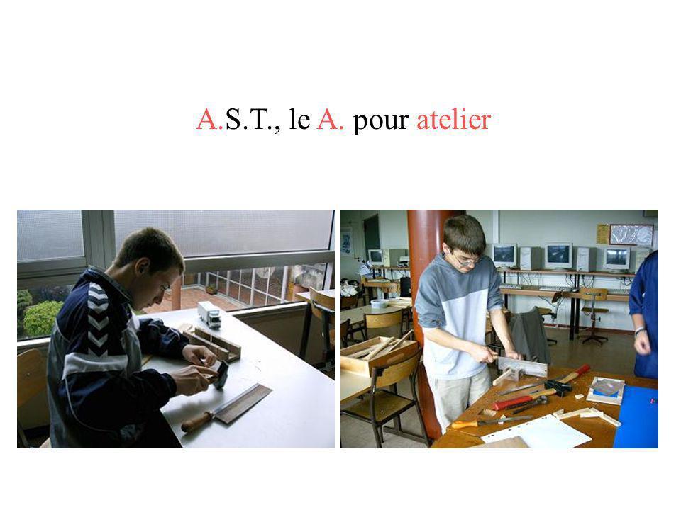 A.S.T., le A. pour atelier