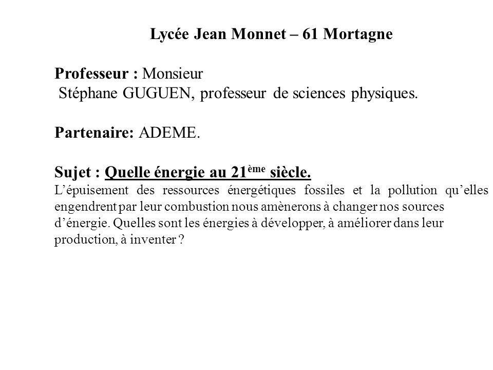 Lycée Jean Monnet – 61 Mortagne