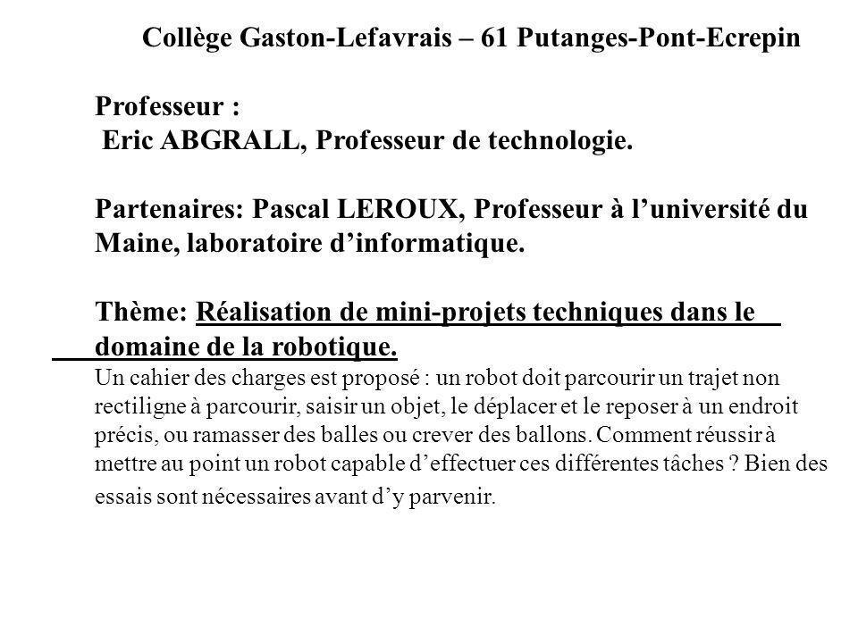 Collège Gaston-Lefavrais – 61 Putanges-Pont-Ecrepin