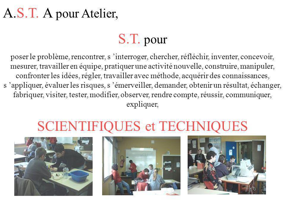 SCIENTIFIQUES et TECHNIQUES