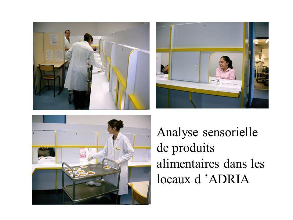 Analyse sensorielle de produits alimentaires dans les locaux d 'ADRIA