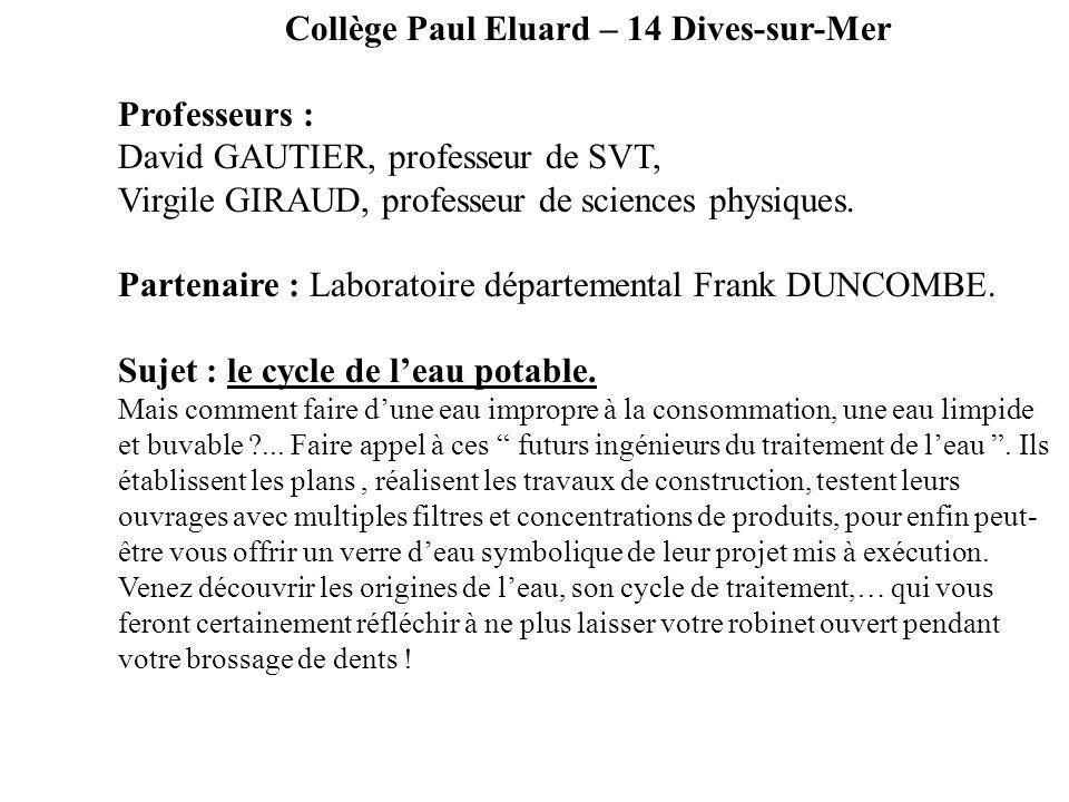 Collège Paul Eluard – 14 Dives-sur-Mer