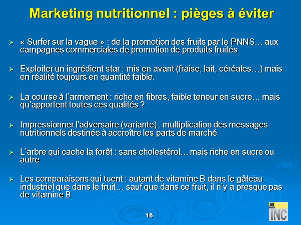 Marketing nutritionnel : pièges à éviter