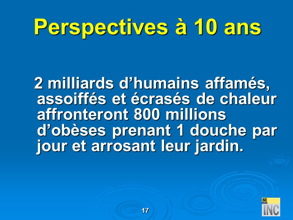 Perspectives à 10 ans