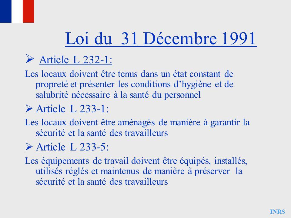 Loi du 31 Décembre 1991 Article L 232-1: Article L 233-1: