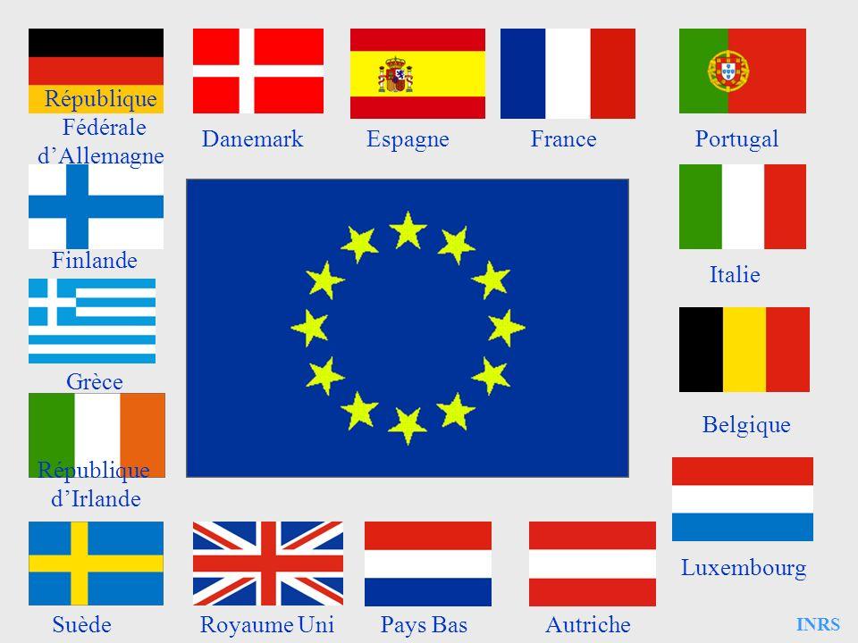 République Fédérale d'Allemagne Danemark Espagne France Portugal