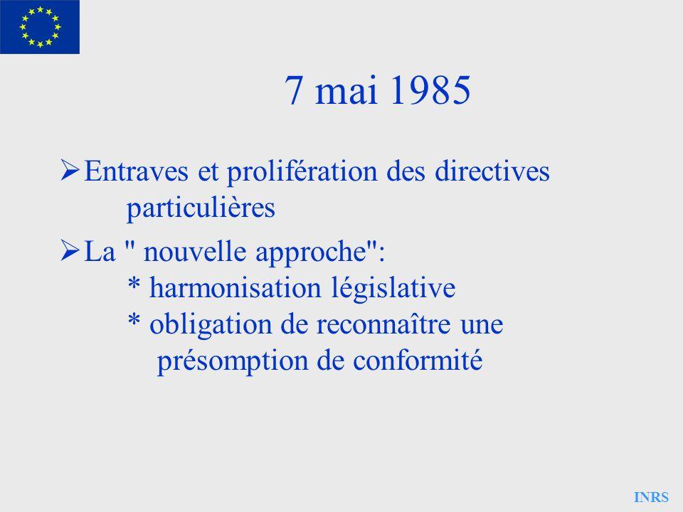 7 mai 1985 Entraves et prolifération des directives particulières