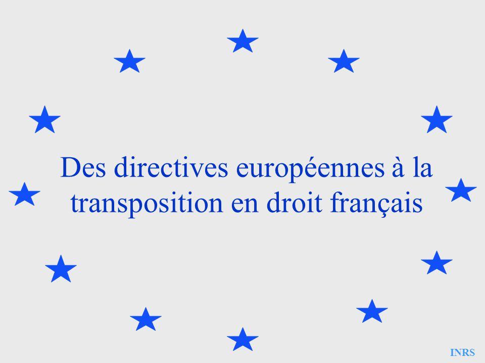 Des directives européennes à la transposition en droit français