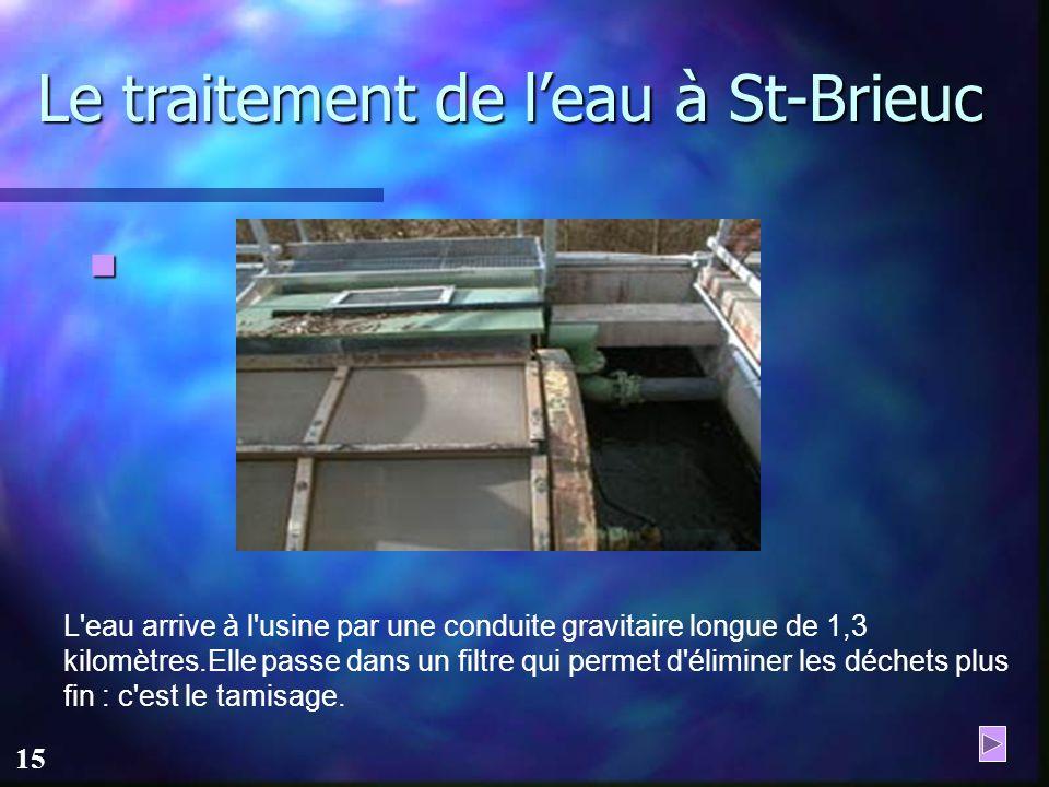 Le traitement de l'eau à St-Brieuc
