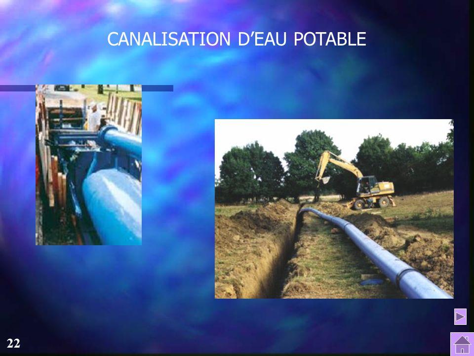 CANALISATION D'EAU POTABLE
