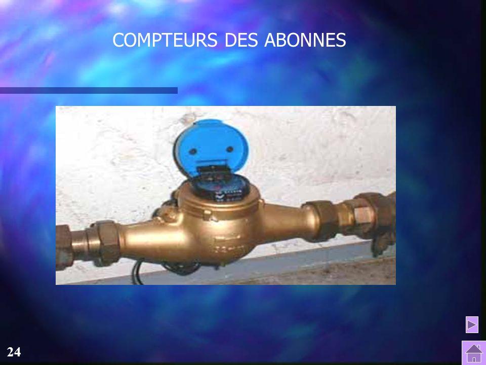 COMPTEURS DES ABONNES