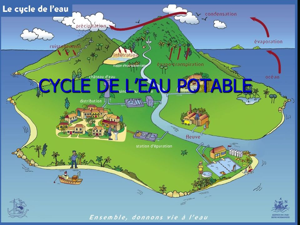 CYCLE DE L'EAU POTABLE CYCLE DE L'EAU POTABLE
