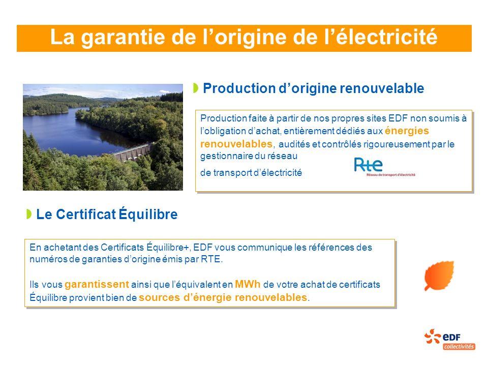 La garantie de l'origine de l'électricité