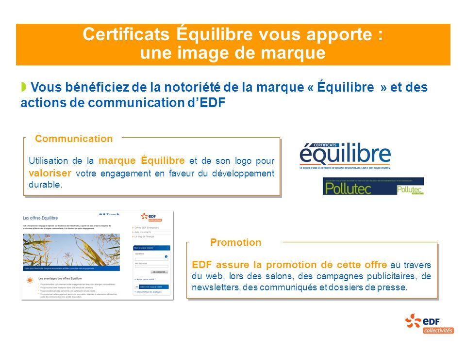 Certificats Équilibre vous apporte :