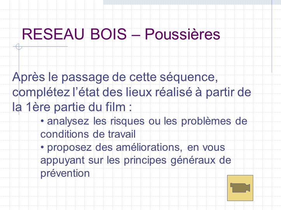 RESEAU BOIS – Poussières