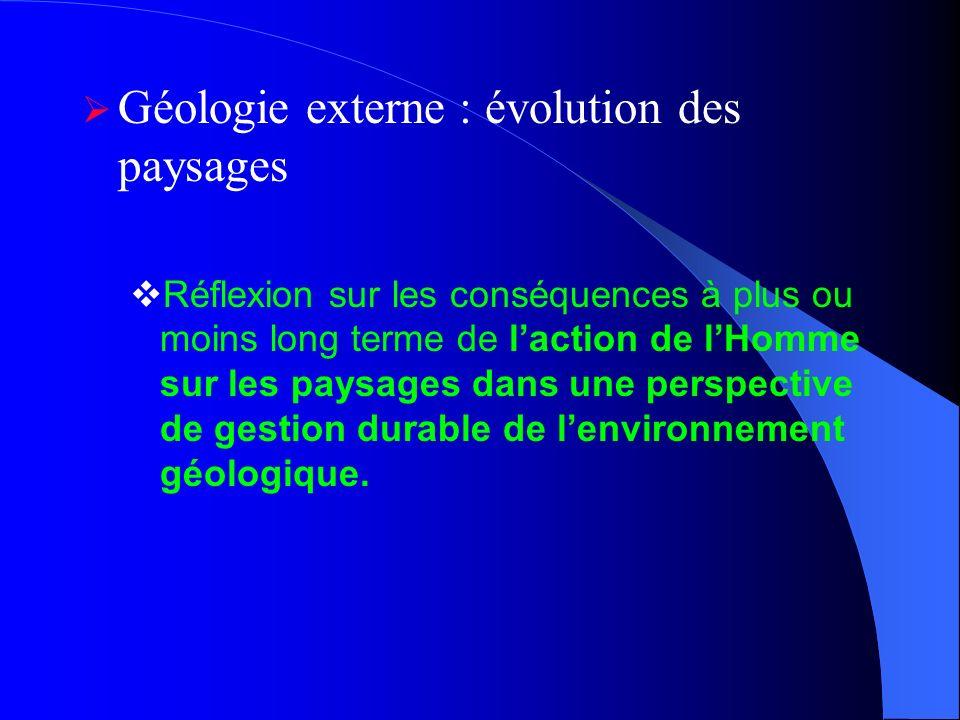 Géologie externe : évolution des paysages