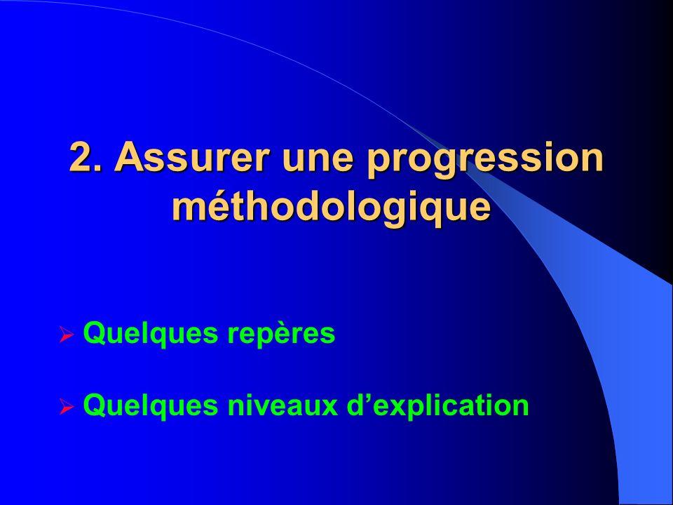2. Assurer une progression méthodologique