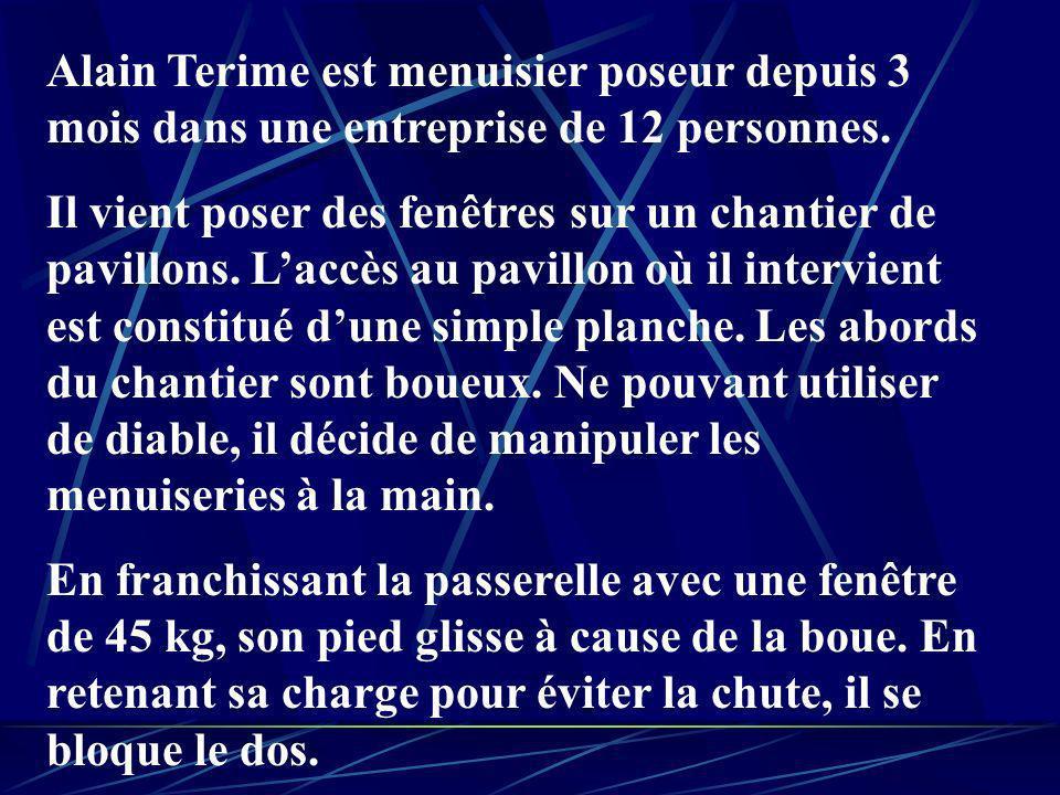 Alain Terime est menuisier poseur depuis 3 mois dans une entreprise de 12 personnes.