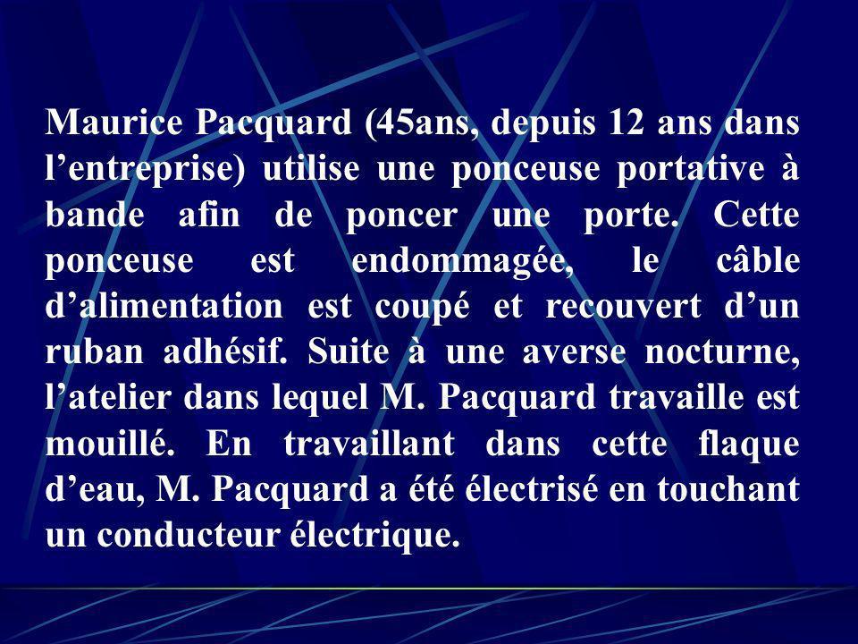 Maurice Pacquard (45ans, depuis 12 ans dans l'entreprise) utilise une ponceuse portative à bande afin de poncer une porte.