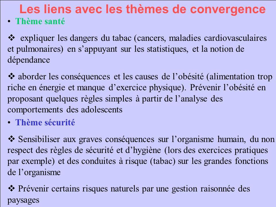 Les liens avec les thèmes de convergence