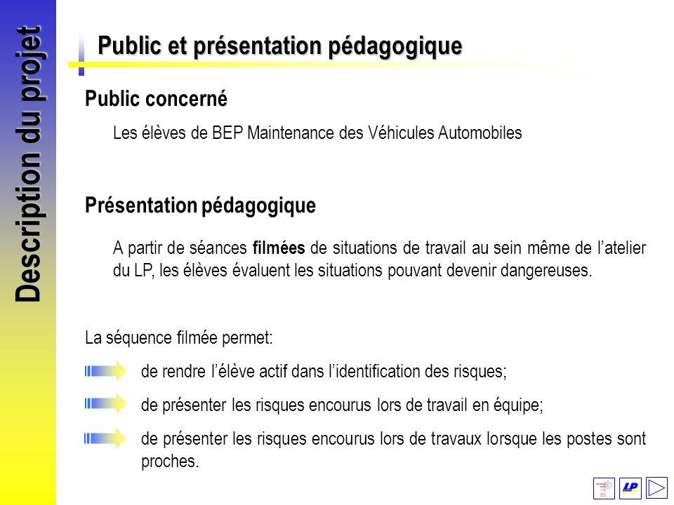 Description du projet Public et présentation pédagogique