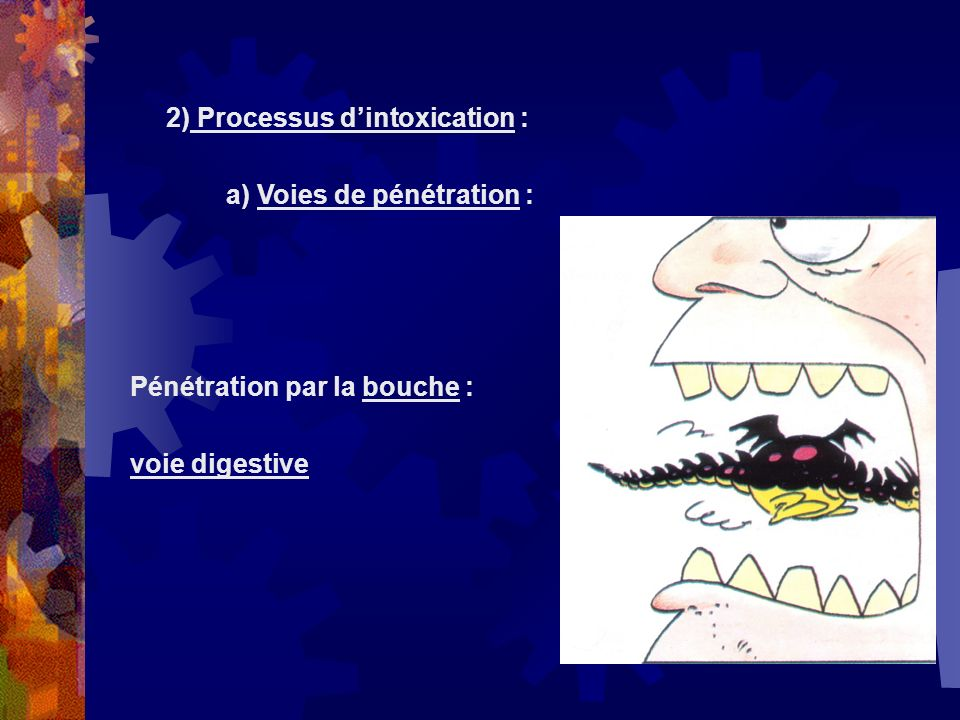 2) Processus d'intoxication :