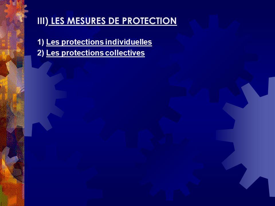 III) LES MESURES DE PROTECTION