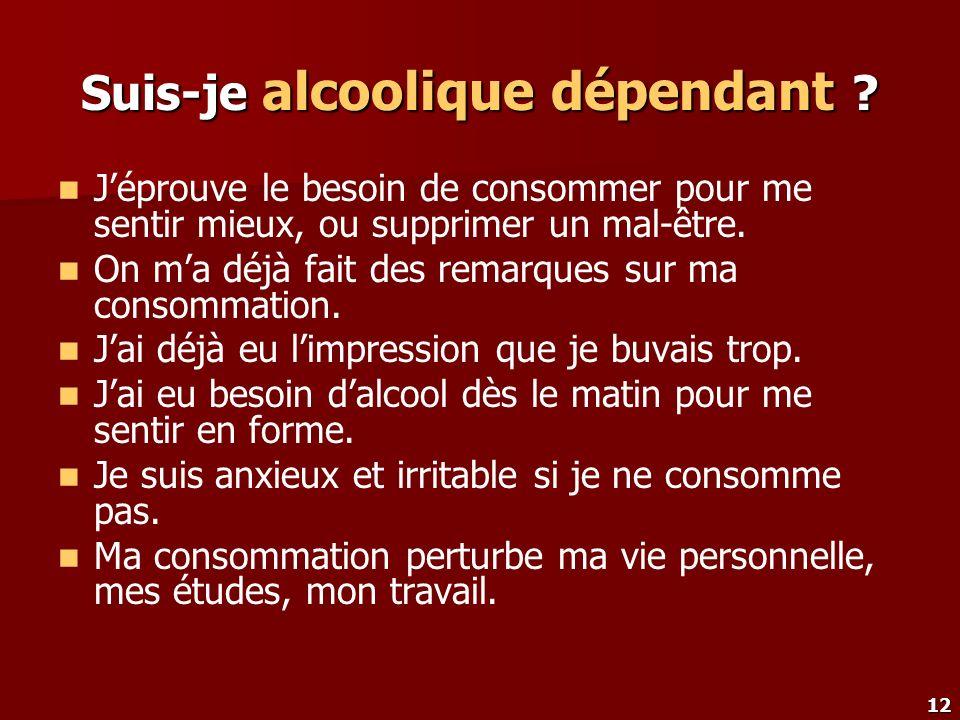 Suis-je alcoolique dépendant