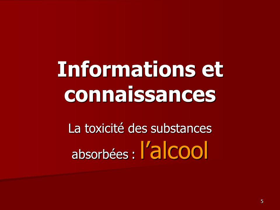 Informations et connaissances