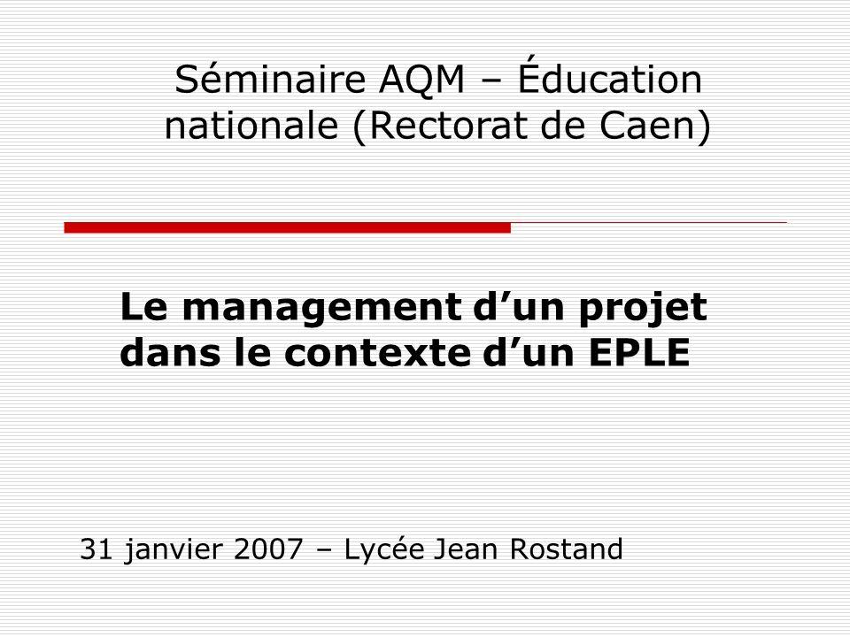 31 janvier 2007 – Lycée Jean Rostand