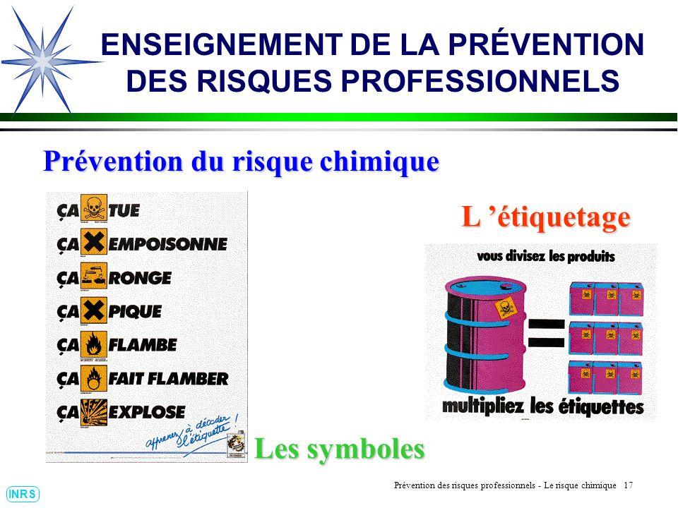 ENSEIGNEMENT DE LA PRÉVENTION DES RISQUES PROFESSIONNELS