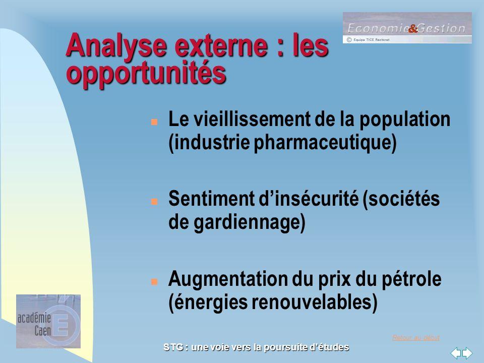 Analyse externe : les opportunités