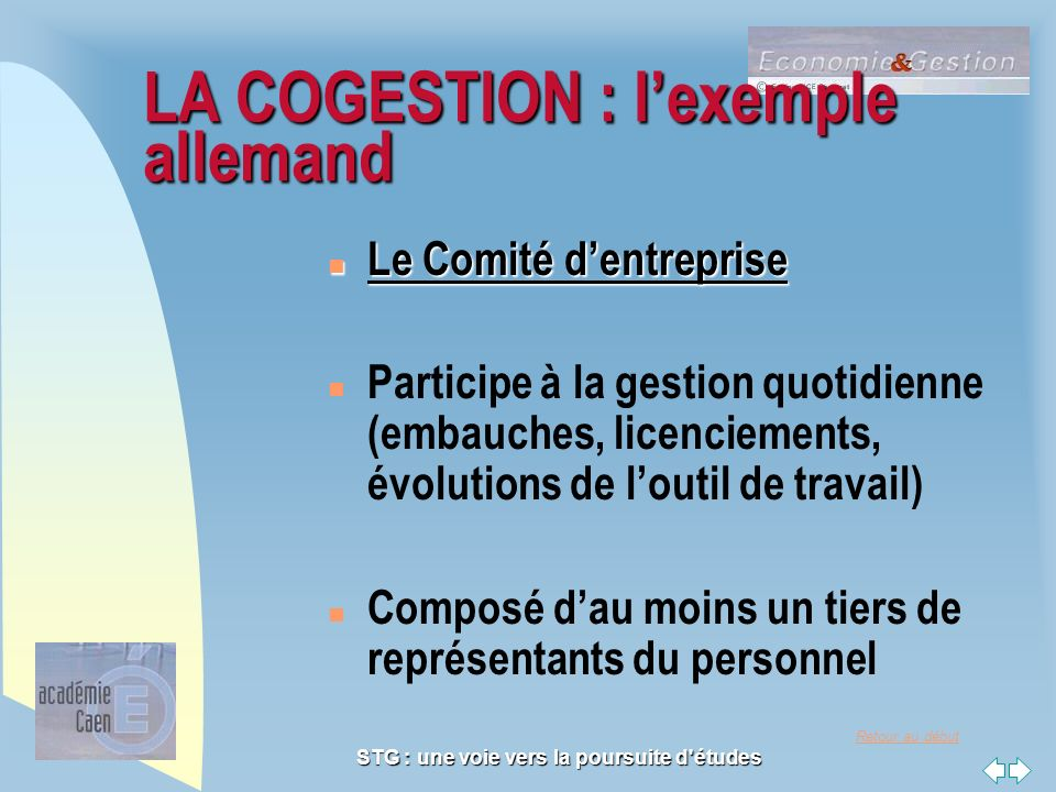LA COGESTION : l'exemple allemand