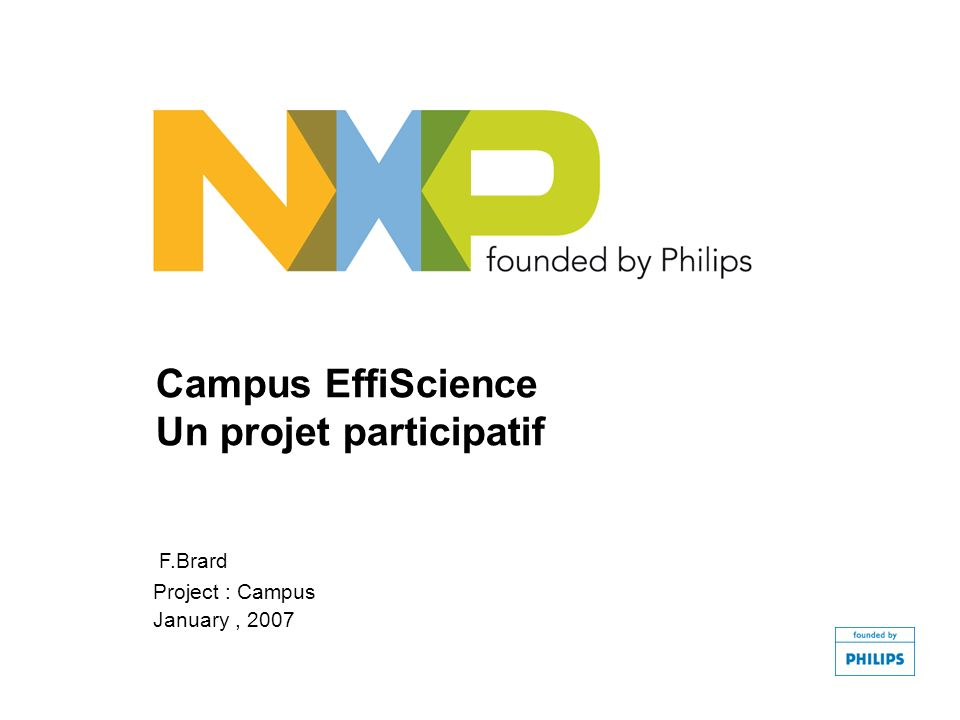 Campus EffiScience Un projet participatif