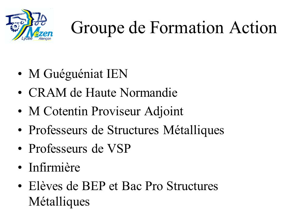 Groupe de Formation Action