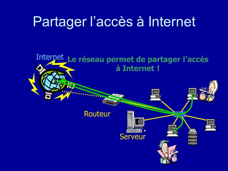 Partager l'accès à Internet