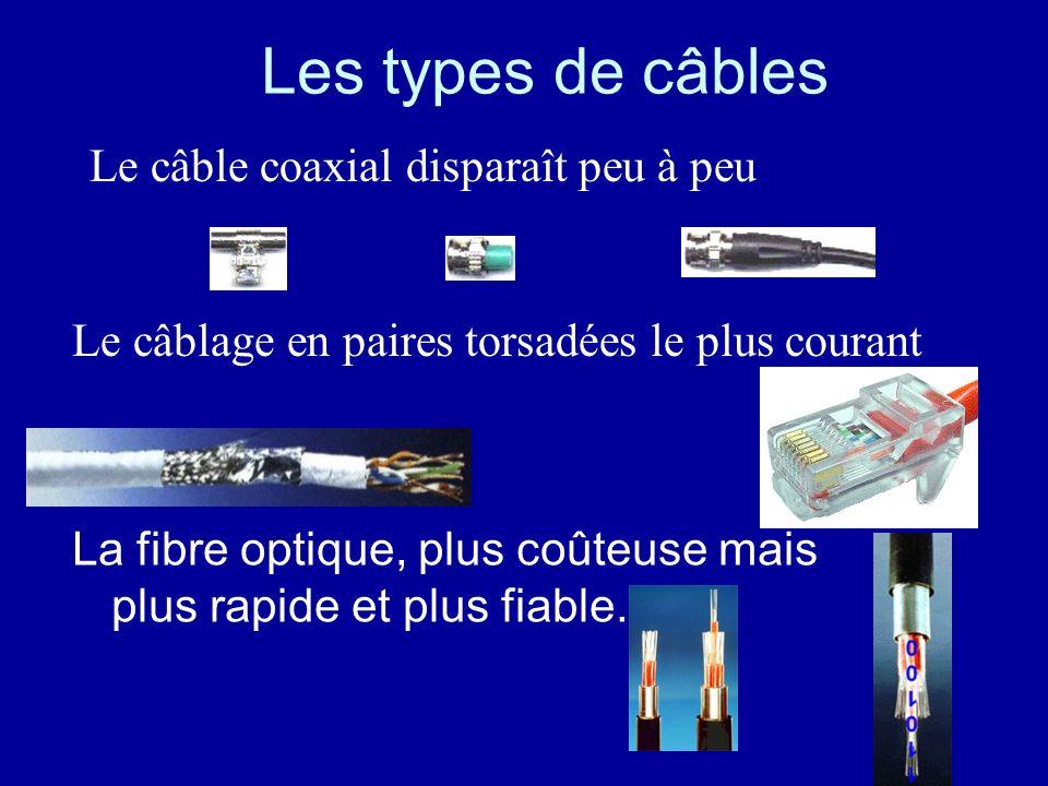 Les types de câbles Le câble coaxial disparaît peu à peu